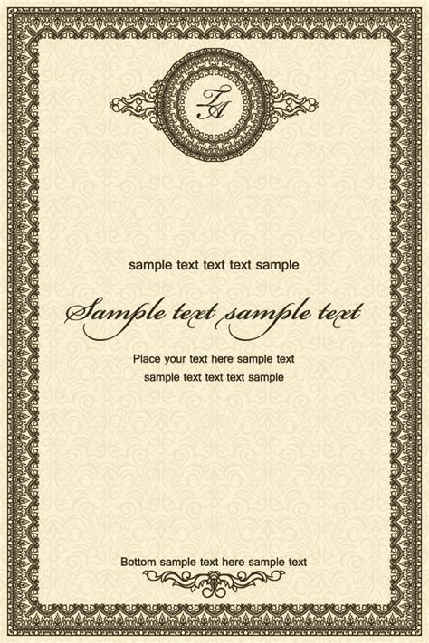 certificate templates photoshop exquisite european certificate template vector material