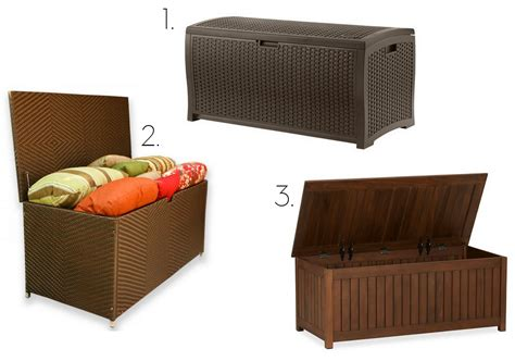 resin wicker storage bench creating an outdoor living space jenna burger