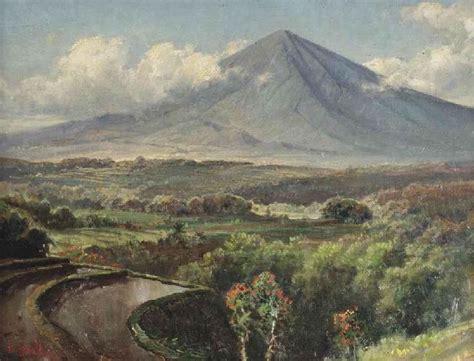 Lukisan Paintings Nature a landscape with sawah by abdullah basuki basuki abdullah as by and landscapes