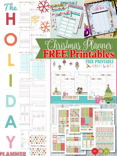 printable holiday planner christmas planner free printables the scrap shoppe