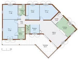 plan de plein pied gratuit 4 chambres