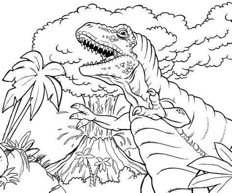 Galerry coloring page for volcano