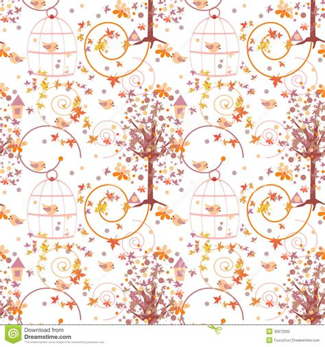 seamless nature pattern free nature seamless pattern with birds royalty free stock