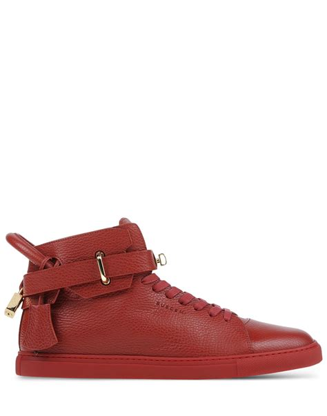 buscemi sneakers mens buscemi leather high top sneakers in for lyst