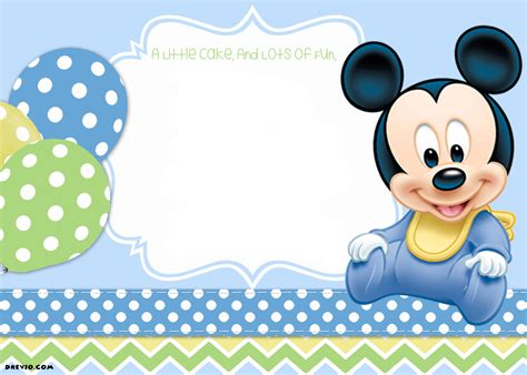sample mick ideal mickey mouse birthday invitations template