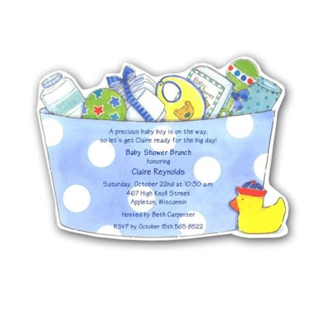 Handmade Boy Baby Shower Invitations - baby shower invitations for