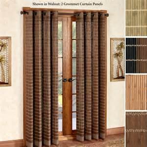 Grommet Patio Door Curtains Bamboo Curtains Patio Doors Curtain Menzilperde Net