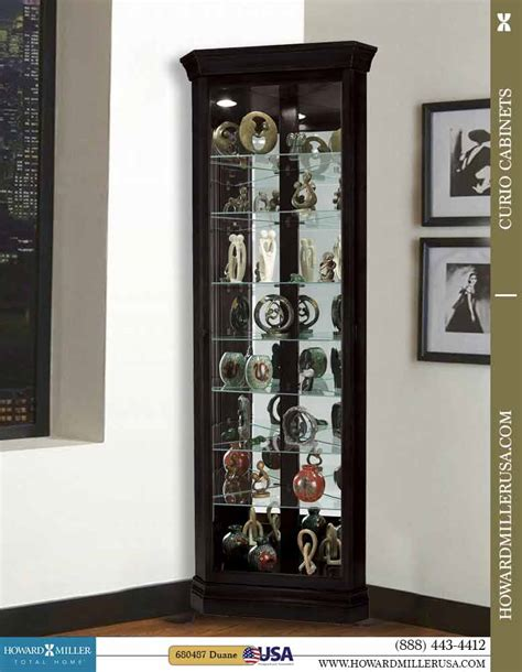 howard miller curio cabinet key howard miller black small corner display curio cabinet