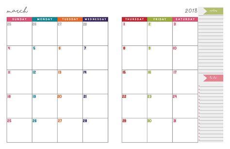 2 Page Calendar Template