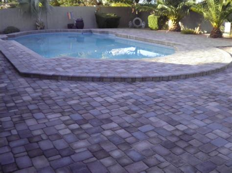 pool pavers remodel your pool deck with pavers from remodel your pool deck using thin overlay pavers