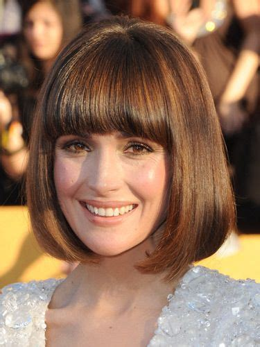 brunette bob hairstyles with bangs 17 best images about classic bob hairstyle on pinterest