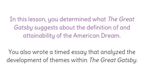 the great gatsby theme review literature review exle in mla personal statement for