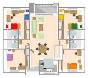 Housing Floor Plans Layout by First Time Freshman Housing Sonoma State University