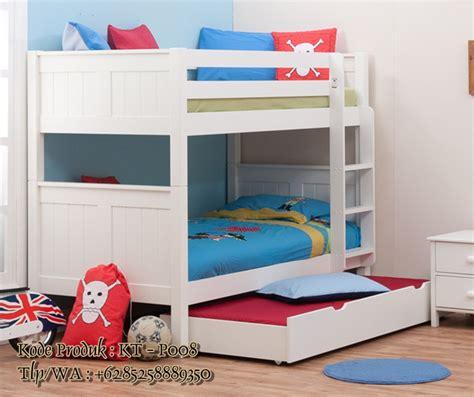 Tempat Tidur Anak Murah Bed Sorong Duco White Nakas Set Kamar Anak daftar harga tempat tidur tingkat tempat tidur susun