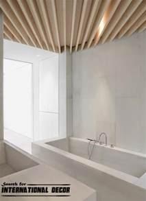 Modern wood ceiling designs for bathroom ceiling ideas