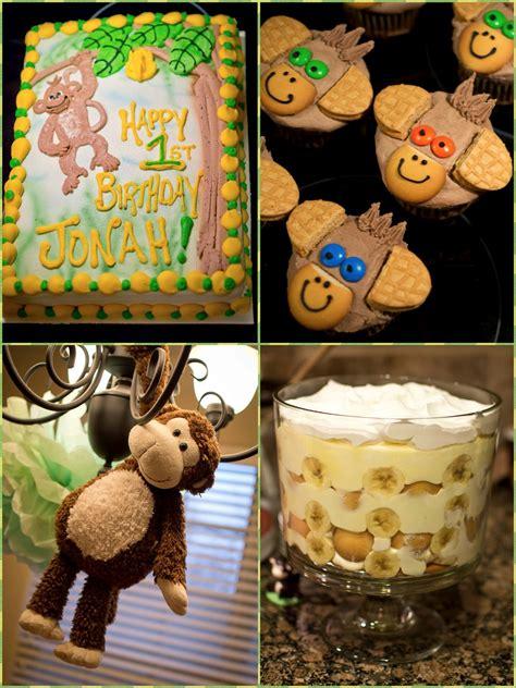 Monkey Birthday Decorations by Defrump Me Monkey 1st Birthday Printables