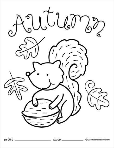 free autumn p coloring pages