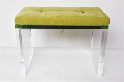 benches clear modern green and clear lucite bench at 1stdibs