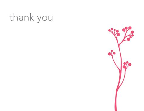 thank you card email template summer pink thank you card