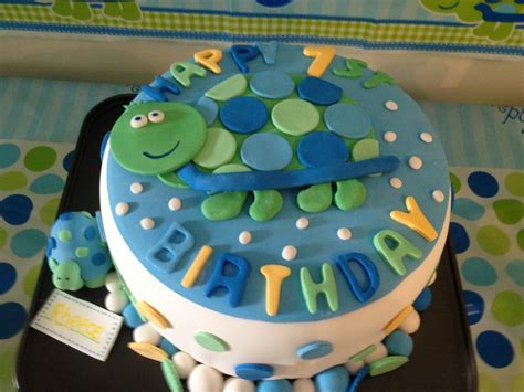 Turtle Theme Cake For A First  Ee  Birthday Ee    Ee  Party Ee    Ee  Party Ee