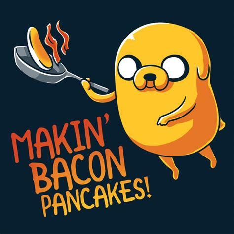 Kaos Adventure Time Bacon Pancakes jake makin bacon pancakes t shirt official adventure