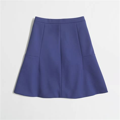 j crew factory flared skirt in blue baroque blue lyst