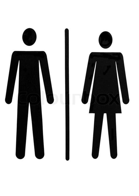 man and woman bathroom symbol mann und frau symbol f 252 r 246 ffentliche toilette stock foto