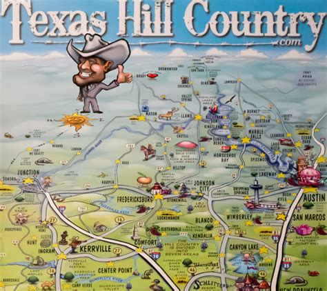 texas hill country map with cities texas hill country map poster texas hill country