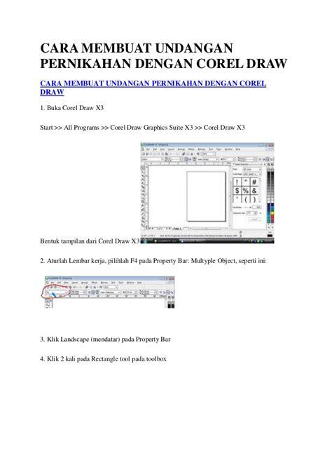 cara membuat surat undangan dengan corel draw cara membuat undangan pernikahan dengan corel draw
