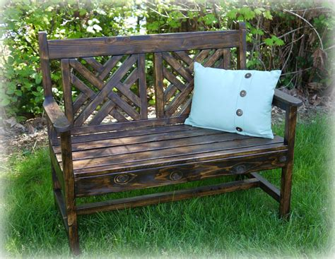 diy bench with back remodelaholic build a bench with a woven back