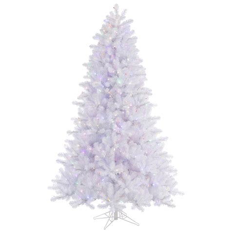 7 5 ft x 55 quot crystal pine white artificial christmas