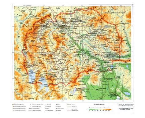 physical map of macedonia maps of macedonia detailed map of macedonia in