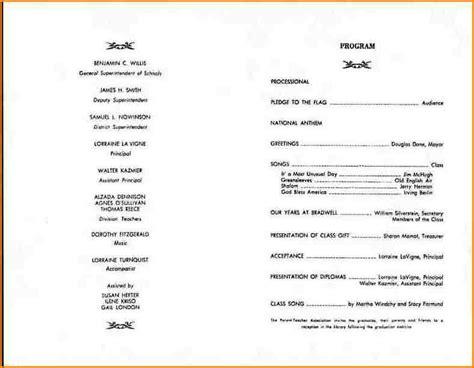 Graduation Ceremony Program Template   BestSellerBookDB