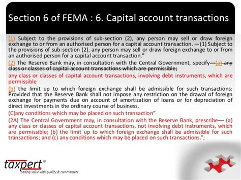 section 3 of fema presentation on amendments in budget 2015 in fema