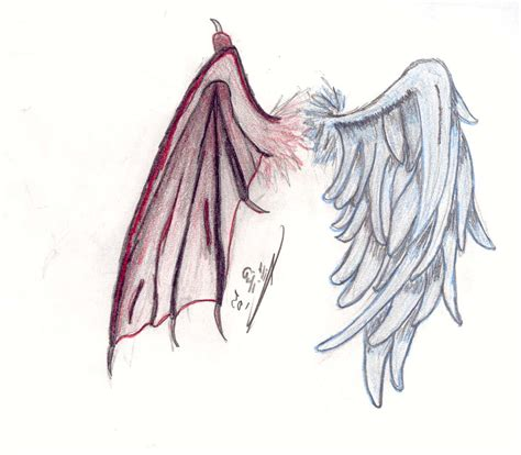 half angel half demon tattoo designs wings half half tattoos