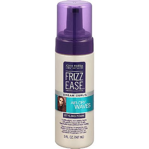 styling air dried hair frizz ease dream curls air dry waves styling foam