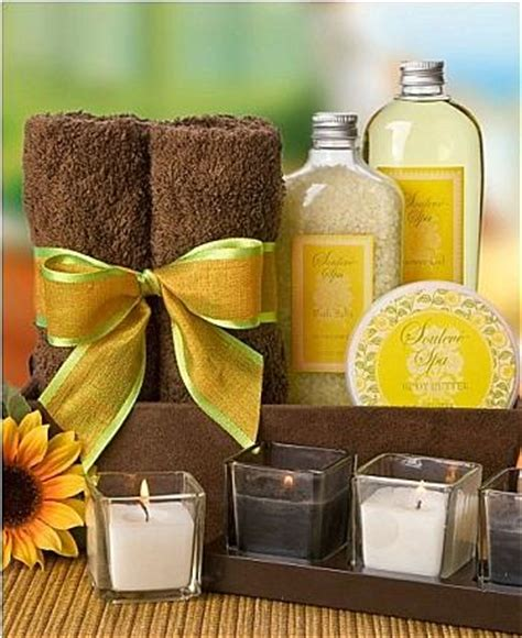 sring kits 2011 from celebrating home in bath pa 18014 sunflower spa kit spa gift baskets relax and revitalize