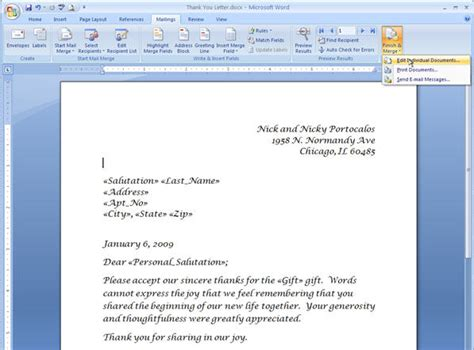 how to create a mail merge template merging for dummies creating mail merge letters in word