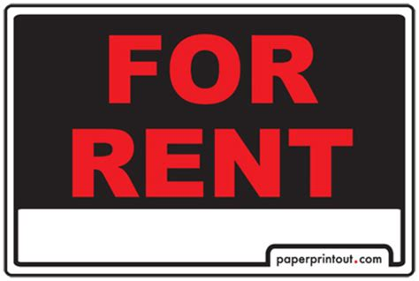 for rent signs for rent by owner sign