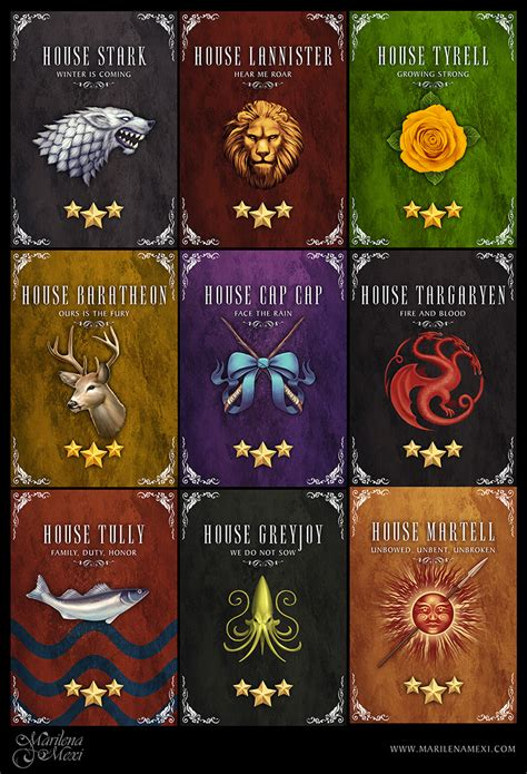 got houses game of thrones houses by maril1 on deviantart