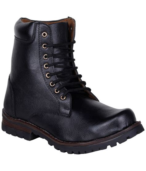 snapdeal boots kraasa black boots buy kraasa black boots at best