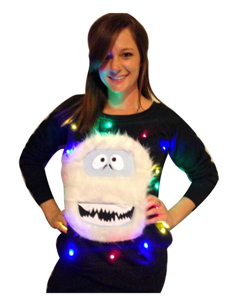 women s ugly christmas sweater abominable snowman