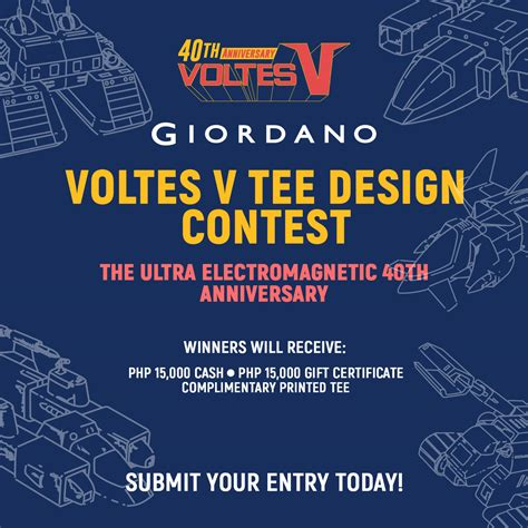design contest philippines 2016 giordano launches voltes v shirt design contest the