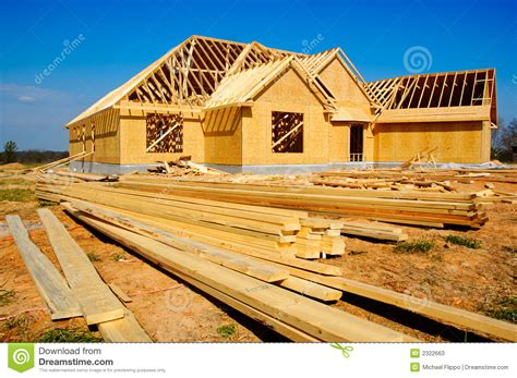 construction of a house new house under construction stock image image 2322663
