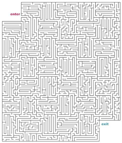 printable maze hard mazes to print hard cutout mazes