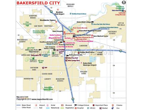 bakersfield california us map bakersfield city map in editable vector format