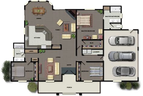 triple bedroom house plans floor plans house plans new zealand ltd