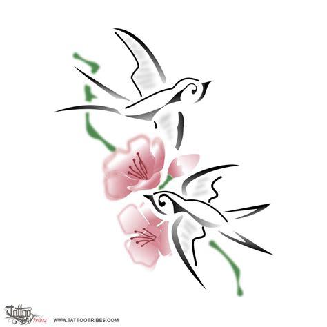 tatuaggi rondini e fiori home tatuaggi fiori tatuaggio ramo con