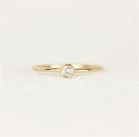 engagement ring in 14k solid gold simple