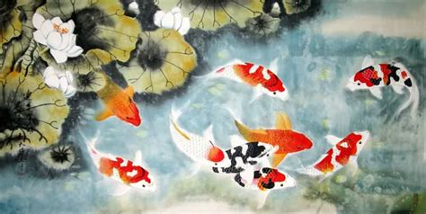 Hn110 Lukisan Lucky 8 Horses paintings of koi fish mafiamedia